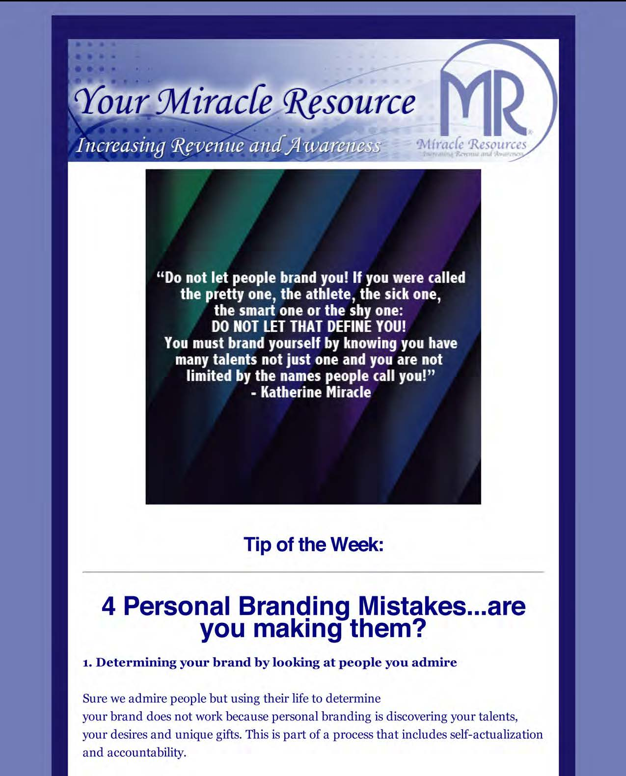 Blog Tip of the Week; 4 Personal Branding Mistakes