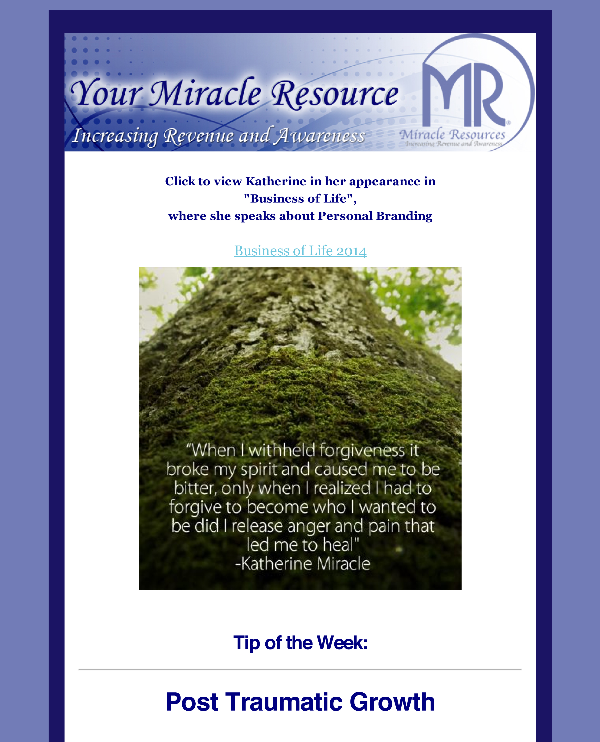 Tip of the Week: Post Traumatic Growth